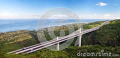 Viaduct Grande Ravine overpass