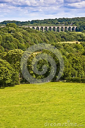 Viaduct over welsh valley