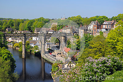 Viaduct view from hill, Knaresborough, England