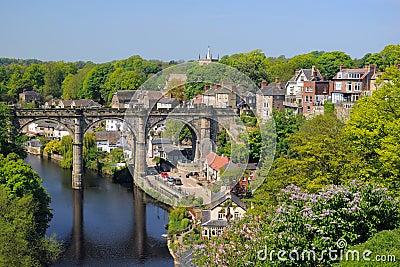 Viaduct view from hill, Knaresborough, England