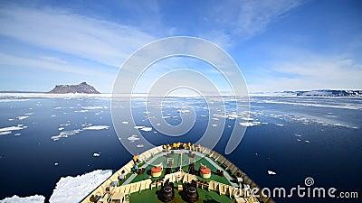 Viaje en el helado, Antártida metrajes