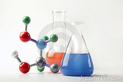 Vials with Fluid and Molecular Chain