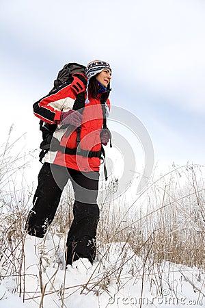 Viandante sulla neve