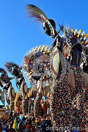 Free Viareggio Carnival, Carnevale Stock Photo - 21962220