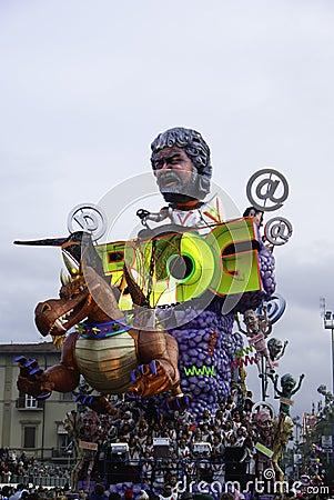 Viareggio s carnival Editorial Stock Image