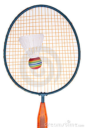 Vibrant Badminton Equipment