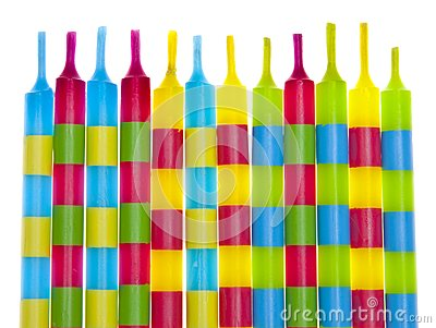 Vibrant Birthday Candles Stock Images - Image: 13625894