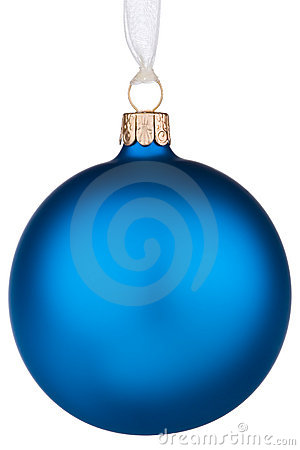 Vibrant blue Christmas Bauble