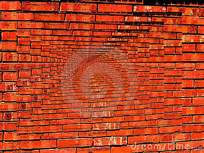 Vibrant Brick Wall Infinity wallpaper