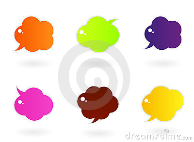 Vibrant colorful speech  icons