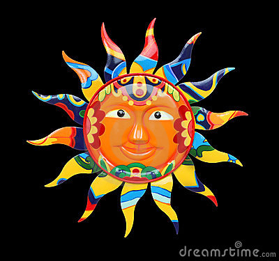 Vibrant Colorful Sun