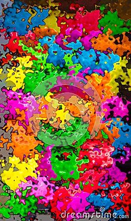 Vibrant colors splash background