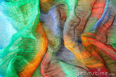 Vibrant colors on textile