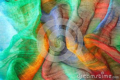 Vibrant colors on textile