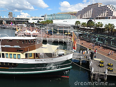 Vibrant Darling Harbour Editorial Stock Image