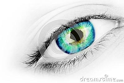 Vibrant eye