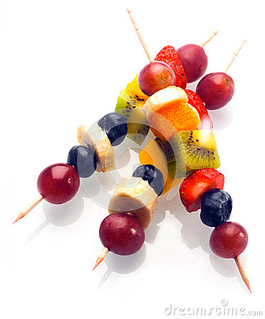 Free Vibrant Fresh Fruit Kebabs For A Healthy Snack Stock Images - 39467554