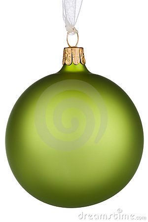 Vibrant green Christmas Bauble