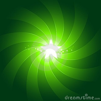 Vibrant green light burst background with shiningc