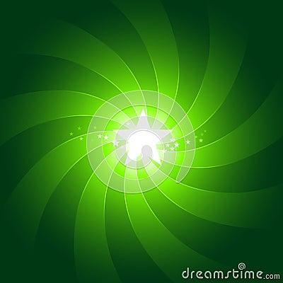 Vibrant green light burst background with shiningc