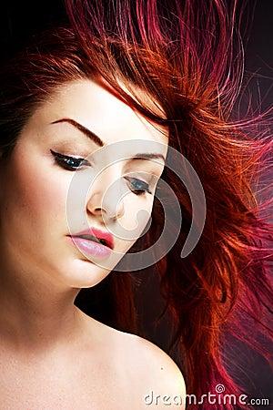 Free Vibrant Hair Royalty Free Stock Image - 15618776