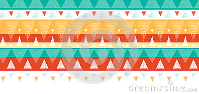 Vibrant ikat stripes horizontal seamless pattern