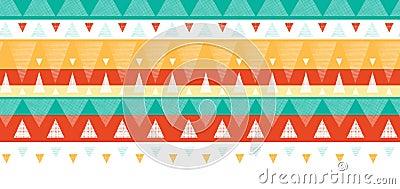 Vibrant ikat stripes horizontal seamless pattern