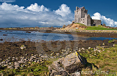 Vibrant irish castle west of ireland