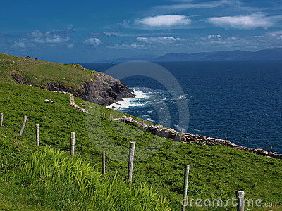 Vibrant landscape and seacape west ireland