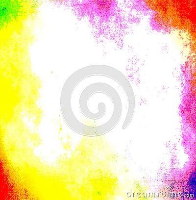 Vibrant Neon Grunge Frame