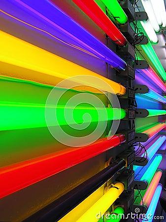Vibrant neon perspective