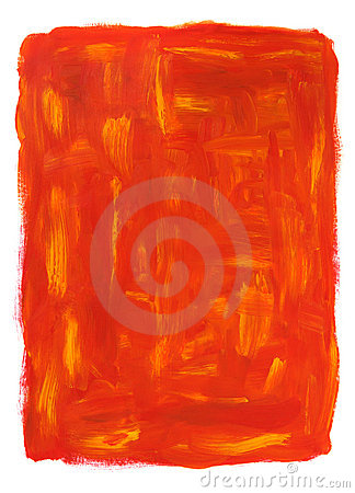 Vibrant orange abstract oil painting