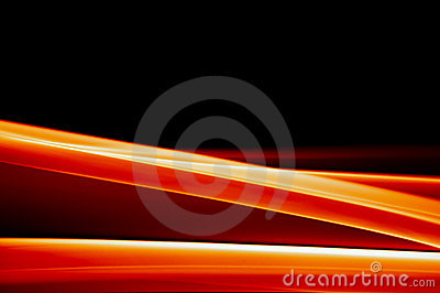 Vibrant orange background on black