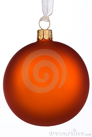 Vibrant orange Christmas Bauble