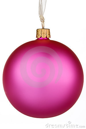 Vibrant pink Christmas Bauble