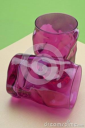 Vibrant Pink Glassware