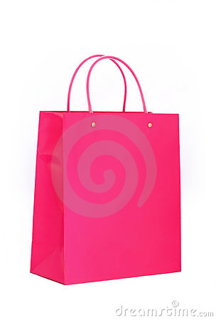 Vibrant Pink Shopping Bag