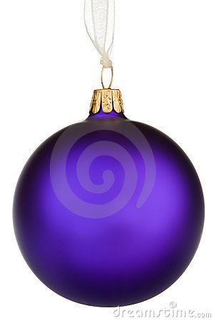 Vibrant purple Christmas Bauble