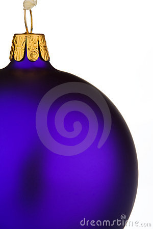 Vibrant purple Christmas Bauble