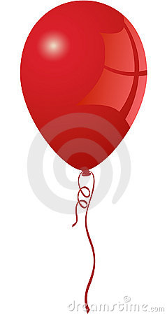 Free Vibrant Red Balloon Stock Images - 6534304