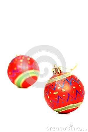 Vibrant red Christmas decorations