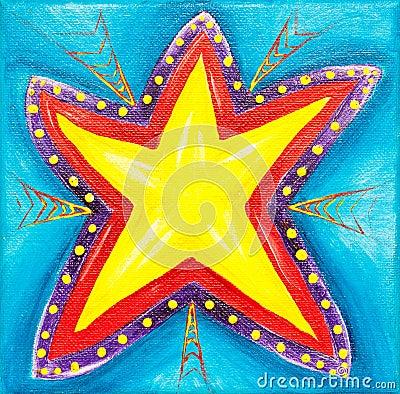 Vibrant star painting.