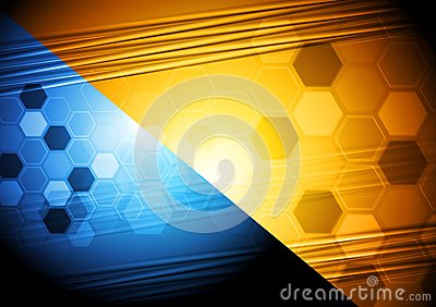 Vibrant tech background