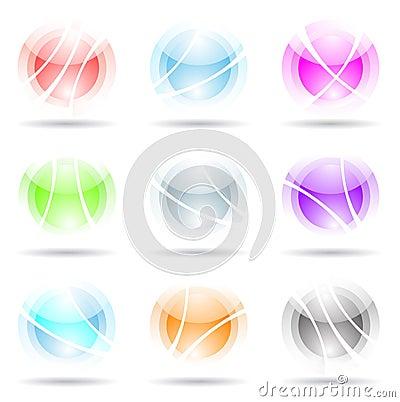 Vibrant, transparent, spheres