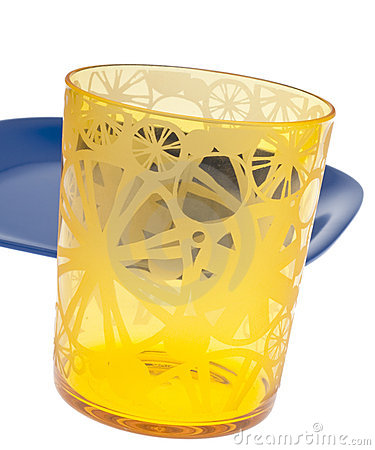 Vibrant Yellow Glass