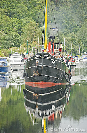 VIC 32 on the Caledonian Canal. Editorial Photography