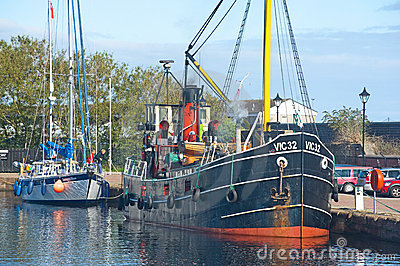 VIC 32 at Muirtown Marina Inverness. Editorial Stock Image