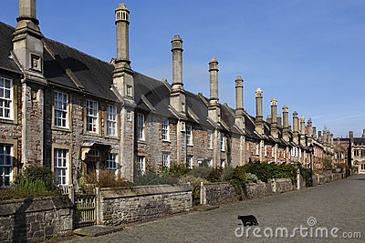 Vicars Walk in the City of Wells - England Editorial Stock Image