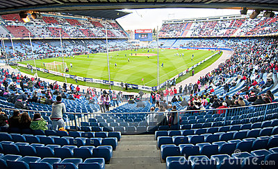 Vicente Calderon soccer stadium, Madrid Editorial Stock Image