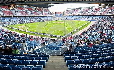 Vicente Calderon soccer stadium, Madrid Editorial Stock Image